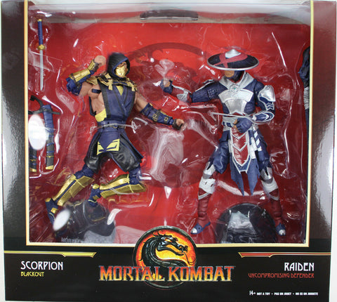 Mortal Kombat ~ 7-INCH SCORPION BLACKOUT & RAIDEN DEFENDER DELUXE FIGURE SET