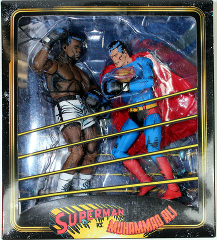 DC Comics ~ SUPERMAN vs. MUHAMMAD ALI SPECIAL EDITION ACTION FIGURE SET ~ NECA
