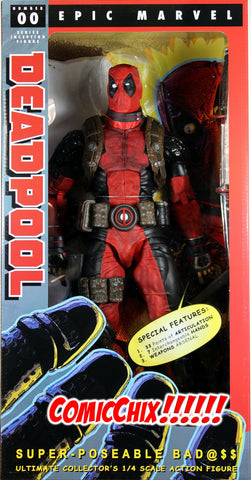 Marvel Comics ~ 18-INCH (1/4 SCALE) DEADPOOL ACTION FIGURE ~ NECA REEL TOYS