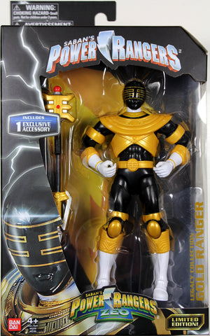 Power Rangers Zeo ~ GOLD RANGER LEGACY ACTION FIGURE ~ Bandai ~ Limited