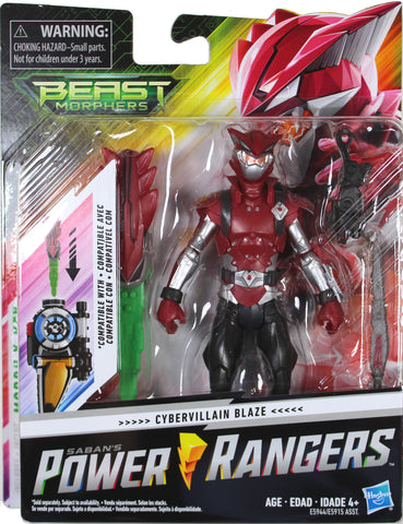 "Power Rangers Beast Morphers ~ 6"" CYBERVILLAIN BLAZE ACTION FIGURE ~ MMPR Morphin"