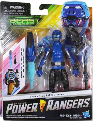 "Power Rangers Beast Morphers ~ 6"" BLUE RANGER ACTION FIGURE ~ MMPR Morphin"