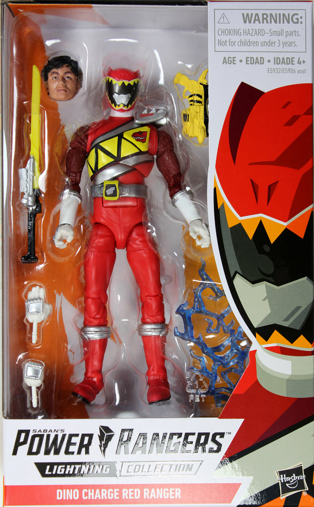 """Power Rangers Dino Charge 4/"""" Red Ranger Action Figure  …"""