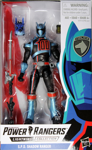 Power Rangers Lightning Collection ~ S.P.D. SHADOW RANGER ACTION FIGURE ~ Hasbro