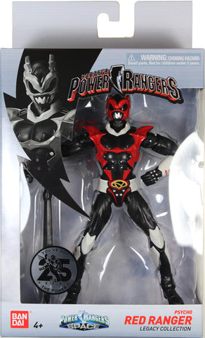 Power Rangers Space ~ PSYCHO RED RANGER LEGACY ACTION FIGURE ~ MMPR Morphin