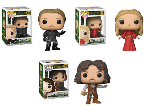 Funko POP! Movies ~ PRINCESS BRIDE VINYL 3-FIGURE SET ~ WESTLEY, BUTTERCUP+