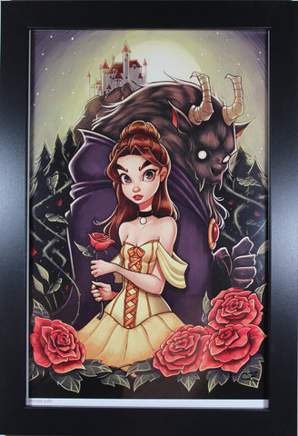 BEAUTY & THE BEAST PRINT ~ Motor City Comic Con 2018 ~ Signed by Chrissie Zullo