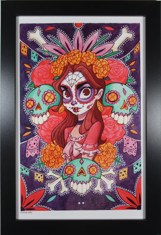 DAY OF THE DEAD PRINT ~ Motor City Comic Con 2018 ~ Signed by Chrissie Zullo