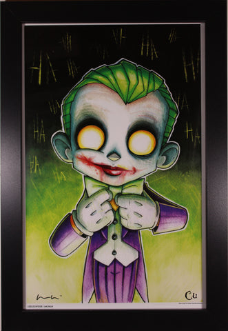 THE JOKER ART PRINT ~ Motor City Comic Con 2018 ~ Signed by Chris Uminga