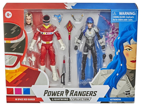 Power Rangers Lightning Collection ~ IN SPACE RED RANGER & ASTRONEMA ACTION FIGURE SET ~ Hasbro