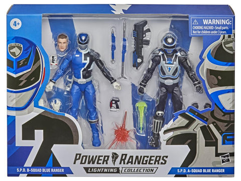 Power Rangers Lightning Collection ~ S.P.D. SQUAD A & SQUAD B BLUE RANGER ACTION FIGURE SET ~ Hasbro