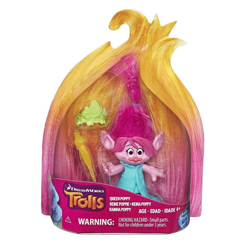 Trolls ~ QUEEN POPPY FIGURE w/ACCESSORIES ~ Small Troll Town Collectibles Series