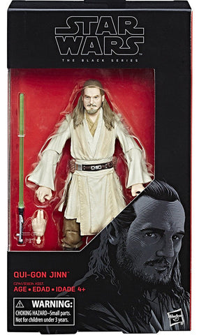 "Star Wars Black Series ~ 6"" QUI-GON JINN ACTION FIGURE ~ Episode I Hasbro"