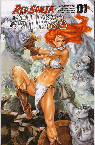 RED SONJA: AGE OF CHAOS #1 (CHATZOUDIS VARIANT) COMIC BOOK ~ Dynamite