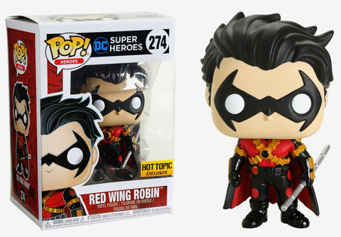 Funko POP! DC Heroes ~ RED WING ROBIN HT EXCLUSIVE FIGURE ~ Batman Series
