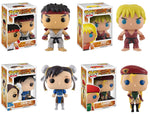 Funko POP! Games ~ STREET FIGHTER II VINYL FIGURE SET ~ Cammy, Chun-Li, Ken, Ryu