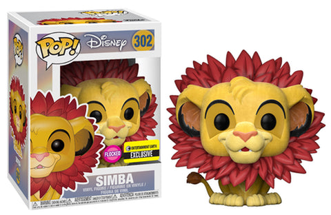 Funko POP! Disney ~ SIMBA w/LEAF MANE FLOCKED EXCLUSIVE ~ Lion King