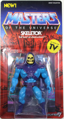 Masters of the Universe ~ VINTAGE-STYLE SKELETOR ACTION FIGURE ~ Super7 ~ MOTU He-Man