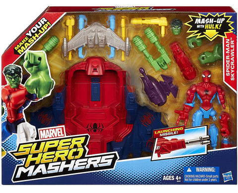 Marvel Super Hero Mashers ~ SPIDER-MAN w/SKY CRAWLER VEHICLE ~ HASBRO