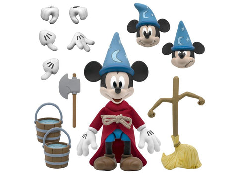 Disney Ultimates ~ THE SORCEROR'S APPRENTICE (MICKEY MOUSE) ACTION FIGURE (from FANTASIA) ~ Super 7 (PRE-ORDER)