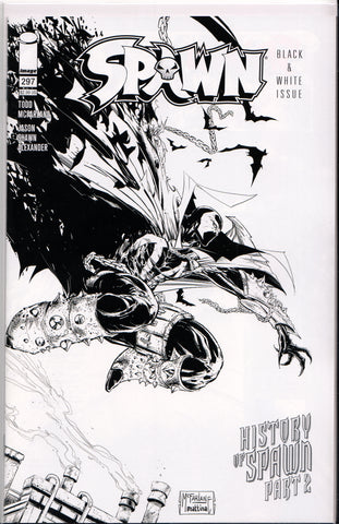 SPAWN #297 (B&W VARIANT) COMIC BOOK ~ Image Comics