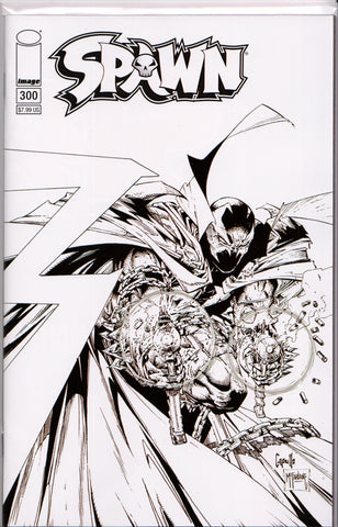 SPAWN #300 (CAPULLO/MCFARLANE B&W VARIANT) COMIC BOOK ~ Image Comics