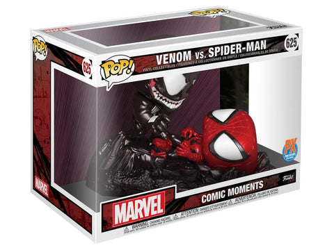 Funko POP! Marvel ~ SPIDER-MAN vs. VENOM PREVIEWS (PX) EXCLUSIVE FIGURE SET ~ Comic Moments