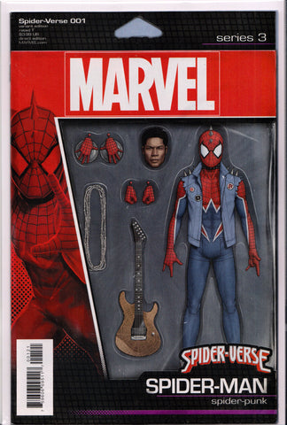 SPIDER-VERSE #1 (SPIDER-PUNK ACTION FIGURE VARIANT) COMIC BOOK ~ Marvel Comics