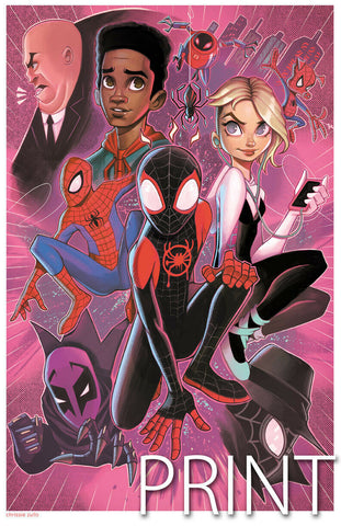 "SPIDER-VERSE ART PRINT ~ Signed by Chrissie Zullo ~ 11"" x 17"""