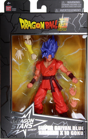 Dragon Stars Series 6 ~ SSGSS (BLUE) KAIOKEN X 10 GOKU ACTION FIGURE ~ DBZ