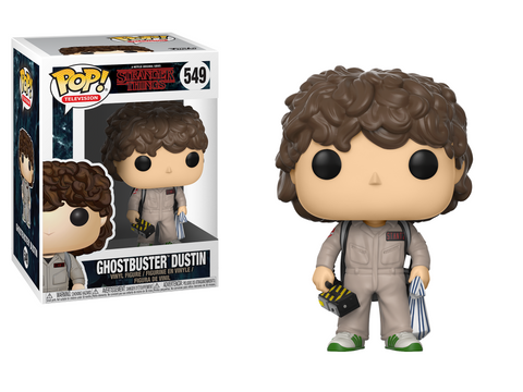 Funko POP! Television ~ GHOSTBUSTER DUSTIN VINYL FIGURE ~ Stranger Things
