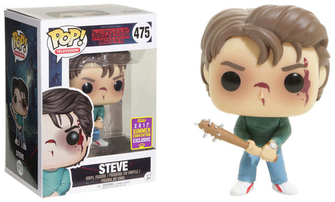 Funko POP! Television ~ STEVE (HT EXCLUSIVE) VINYL FIGURE ~ Stranger Things