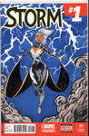 STORM #1 BLANK VARIANT w/ORIGINAL COVER ART BY ANDRES F. CRUZ ~ SIGNED