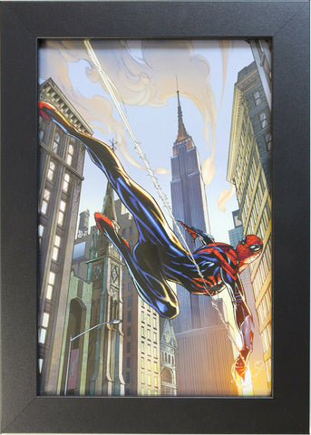 SUPERIOR SPIDER-MAN (VARIANT) by J. Scott Campbell - FRAMED ART - 8 X 12 (Print)