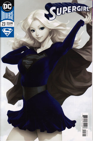 "SUPERGIRL #23 (STANLEY ""ARTGERM"" LAU METALLIC VARIANT) COMIC BOOK ~ DC Comics"