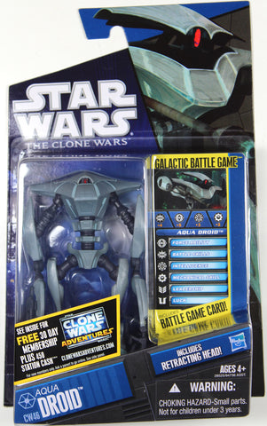 "Star Wars: Clone Wars - 3 3/4"" AQUA DROID Action Figure (#46) ~ Hasbro"