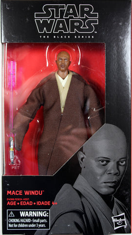 "Star Wars Black Series ~ 6"" MACE WINDU Action Figure ~ Episode II"