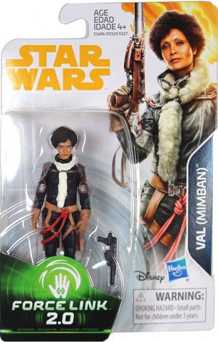 "Star Wars: Force Link 2.0 ~ 3 3/4"" VAL (MIMBAN) ACTION FIGURE ~ Hasbro"