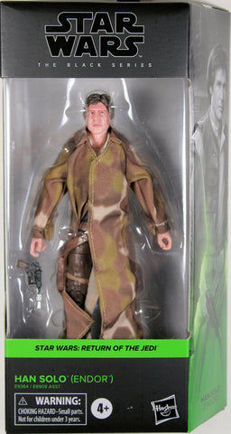 "Star Wars Black Series ~ 6"" HAN SOLO (ENDOR) w/TRENCHCOAT ACTION FIGURE ~ Hasbro"