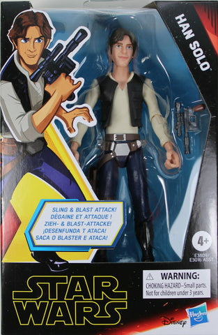 "Star Wars Galaxy of Adventures ~ 5"" HAN SOLO ACTION FIGURE ~ A New Hope"