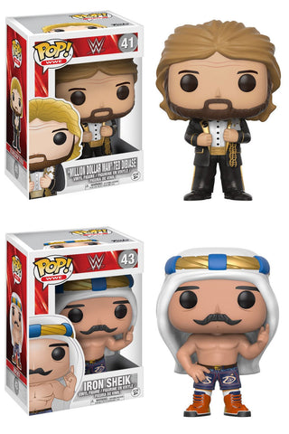 "Funko POP! WWE ~ IRON SHEIK & TED ""MILLION DOLLAR MAN"" DIBIASE VINYL FIGURE SET"