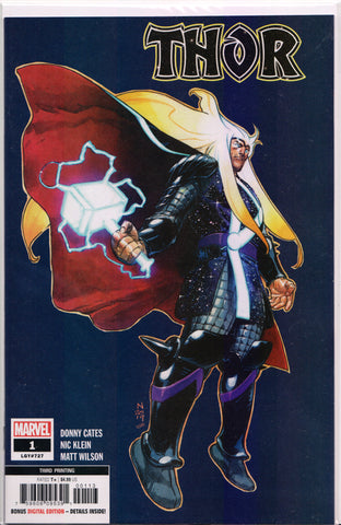THOR #1 (3RD PRINT VARIANT) COMIC BOOK ~ Cates & Klein ~ Marvel Comics