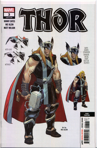THOR #3 (EXCLUSIVE 3RD PRINT VIRGIN VARIANT) Comic Book ~ Marvel Comics