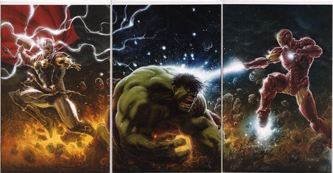 THOR#1, IMMORTAL HULK #1 & TONY STARK #1 (KAARE ANDREWS VIRGIN VARIANT SET) COMIC BOOKS ~ Marvel Comics