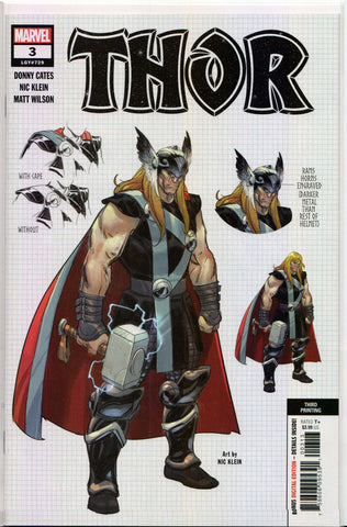 THOR #3 (EXCLUSIVE 3RD PRINT VARIANT) Comic Book ~ Marvel Comics