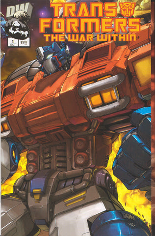 TRANSFORMERS: THE WAR WITHIN #1 COMIC BOOK ~ Dreamwave