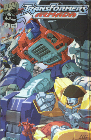 TRANSFORMERS ARMADA #1 (HOLOFOIL VARIANT) COMIC BOOK ~ Dreamwave