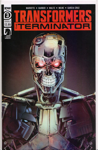 TRANSFORMERS vs. TERMINATOR #3 (COVER B VARIANT) COMIC BOOK ~ IDW