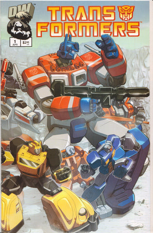 TRANSFORMERS #1 (AUTOBOT VARIANT) COMIC BOOK ~ Dreamwave