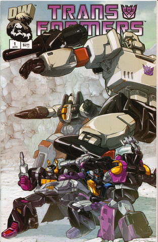 TRANSFORMERS #1 (DECEPTICON VARIANT) COMIC BOOK ~ Dreamwave